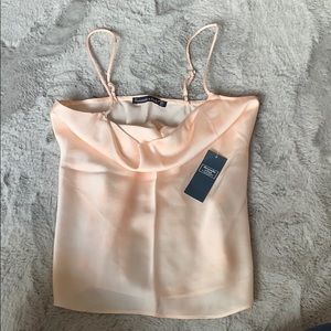 Abercrombie and Fitch blush pink silk cami